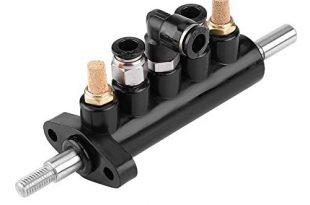 KIMISS Auto Luftregelventil Fußpedal ventil für Ranger Reifenmontiermaschine Liefert Werkzeug Typ A, Aluminiumlegierung (Schwarz)(Typ A (2),)